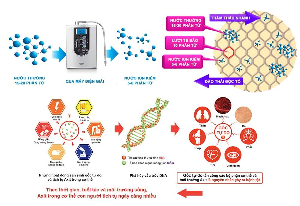 Nước điện giải ion kiềm có tính kiềm hóa cao sẽ giúp hóa giải nồng độ cồn trong máu