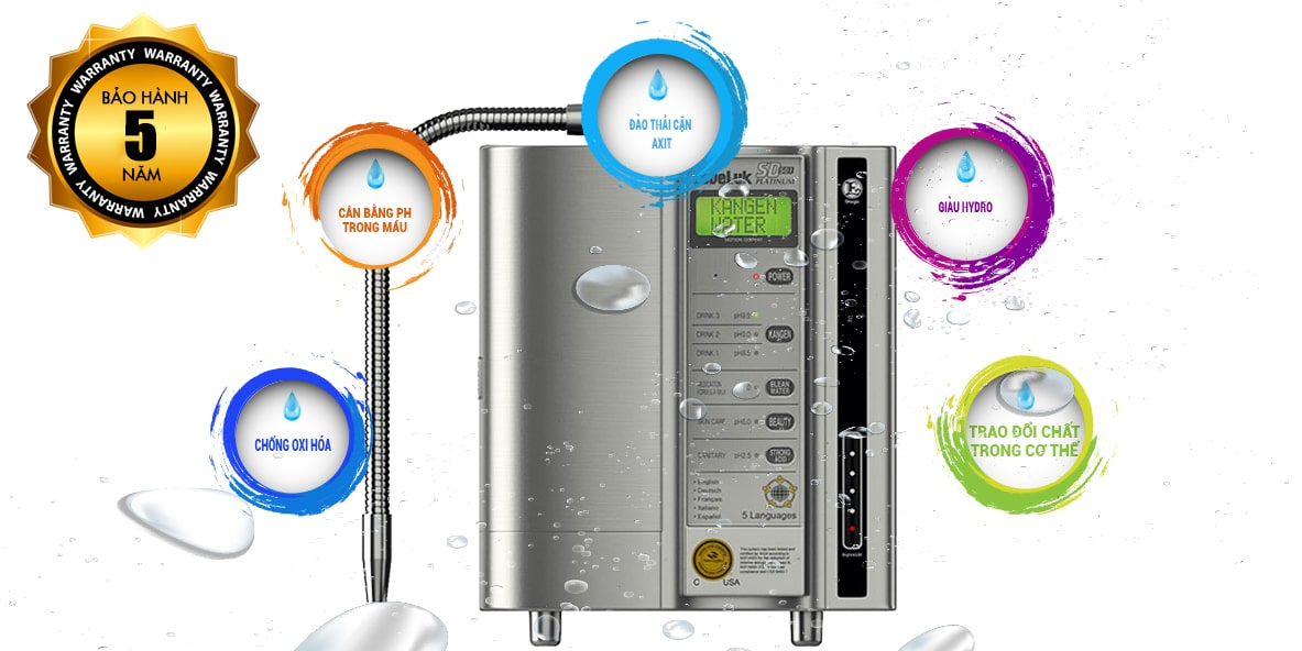 Thời hạn bảo hành máy lọc nước Kangen SD501 Platinum