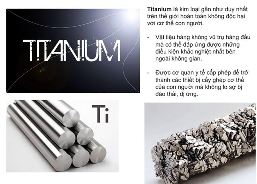 Titanium là loại kim loại gần như duy nhất không gây hại cho con người