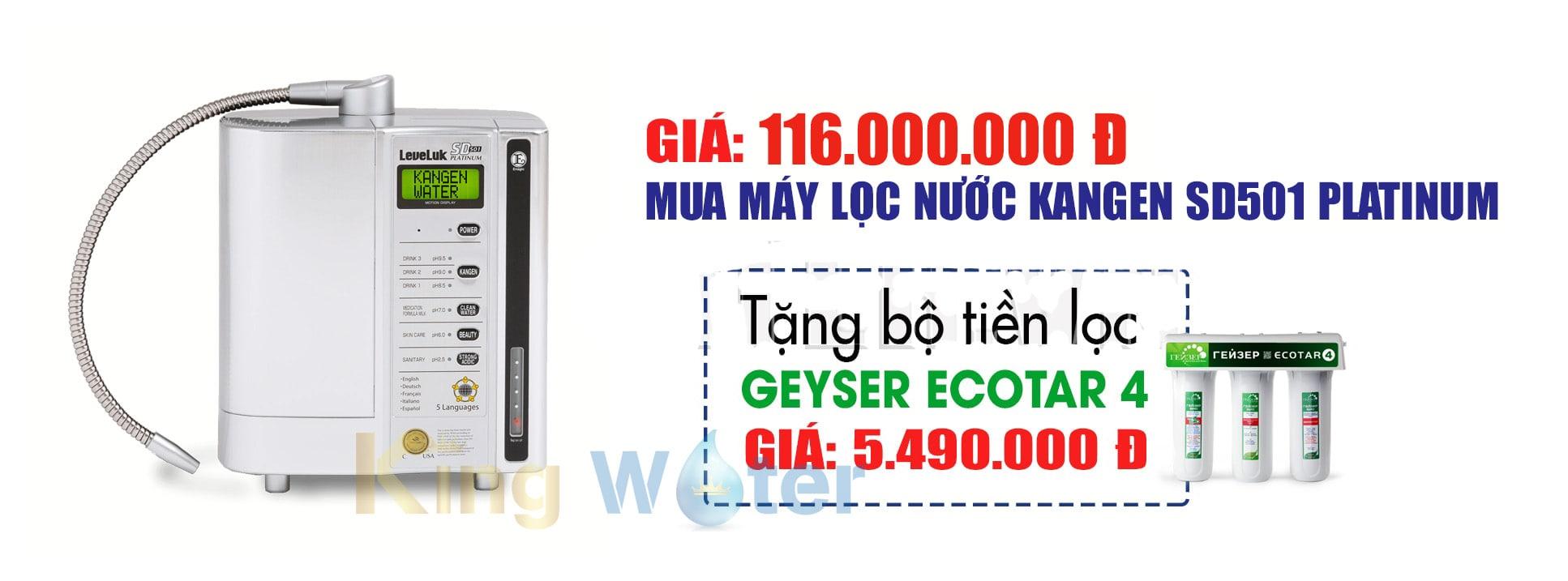 Giá máy lọc nước Kangen Leveluk model SD501 Platinum là thông tin mà rất nhiều khách hàng quan tâm