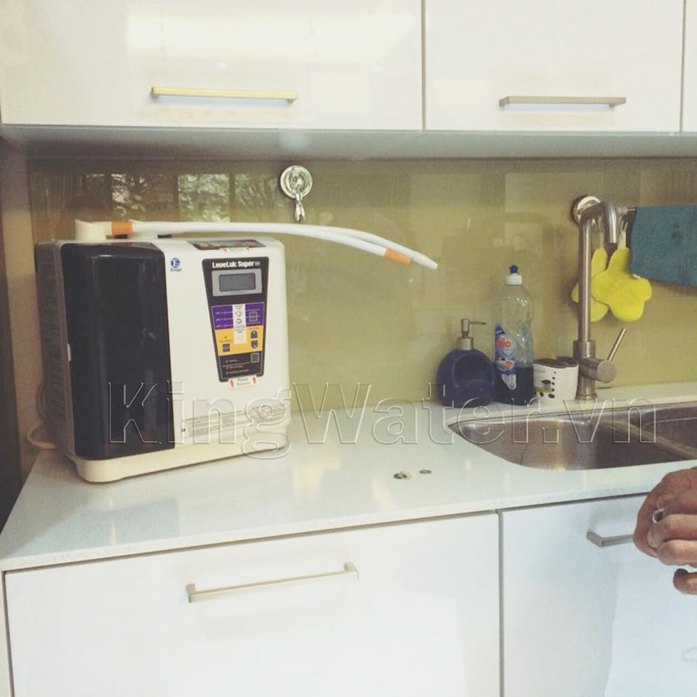 Hình ảnh thực tế máy lọc nước Kangen Super 501 được lắp đặt
