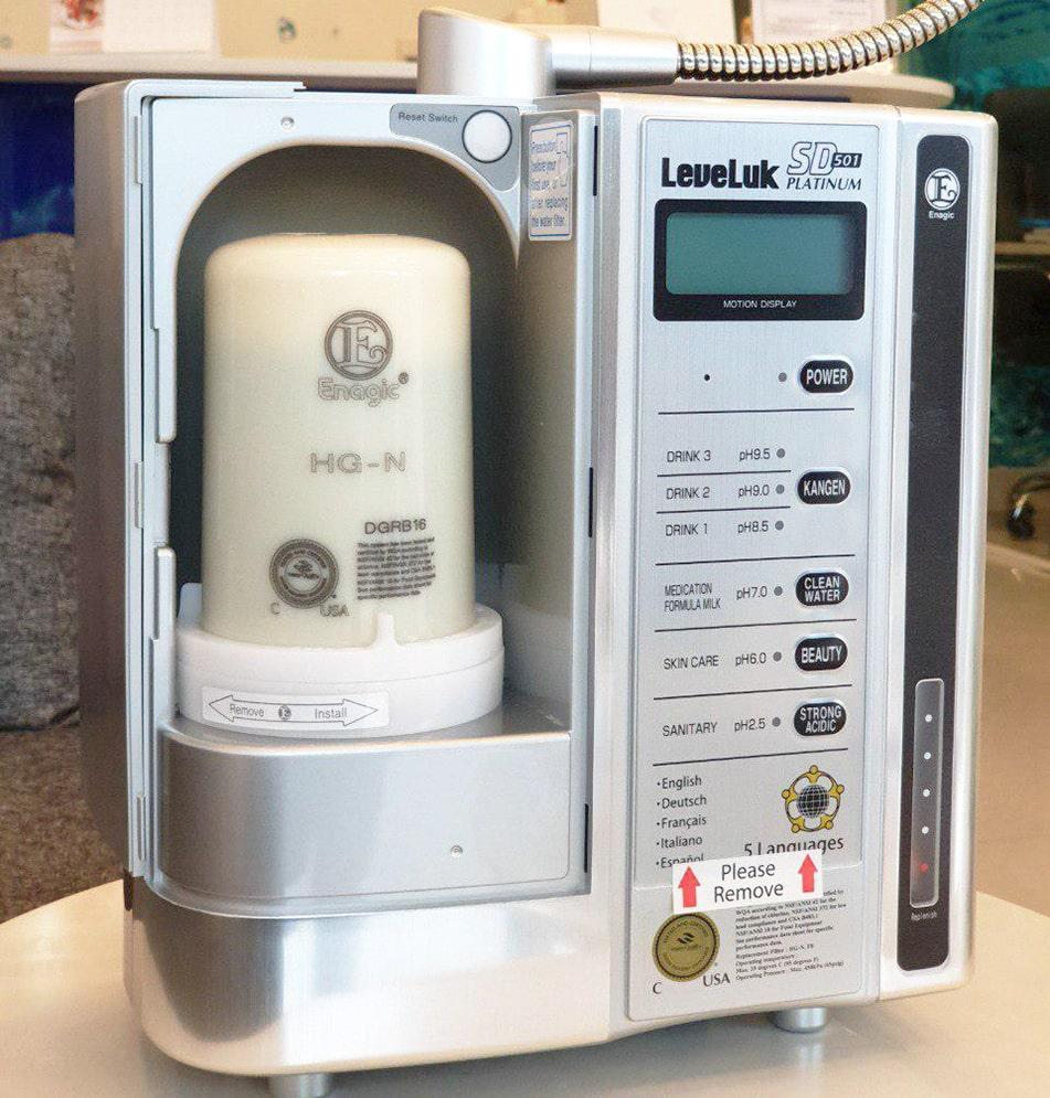 Kangen SD501 Platinum sở hữu bộ lọc trong bao gồm 3 tầng lọc
