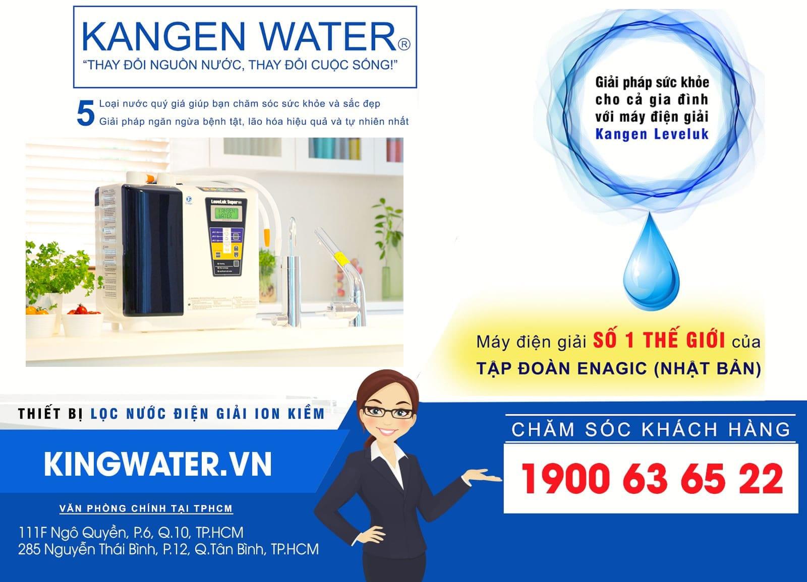 KingWater là địa chỉ uy tín phân phối Kangen được khách hàng ưu tiên lựa chọn hàng đầu