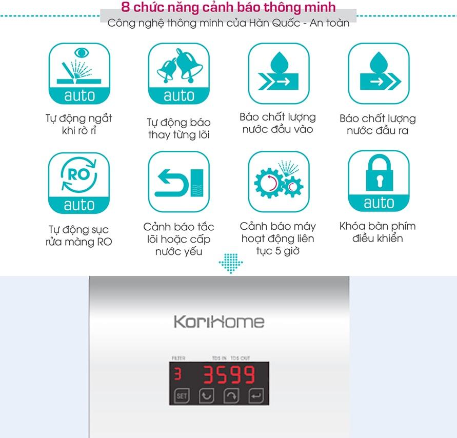 Máy Korihome WPK 606 đã giải quyết được bài toán nan giải về khan hiếm nước sạch của nhiều gia đình
