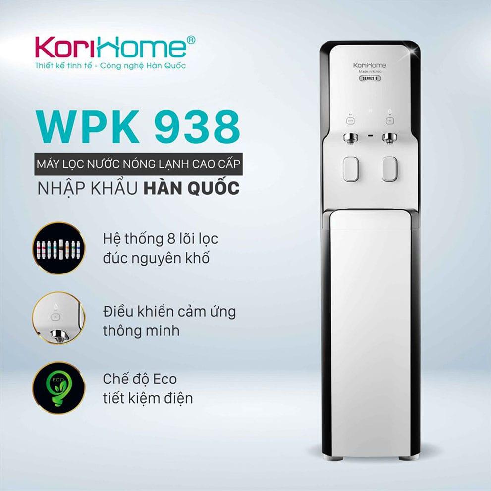 Máy Korihome WPK-938 thiết kế chuẩn phong cách Hàn Quốc