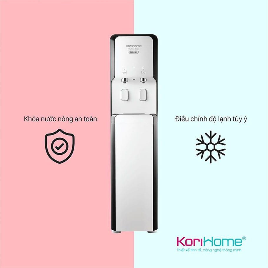 Korihome WPK 938 nóng lạnh trang bị phím khóa nước nóng an toàn
