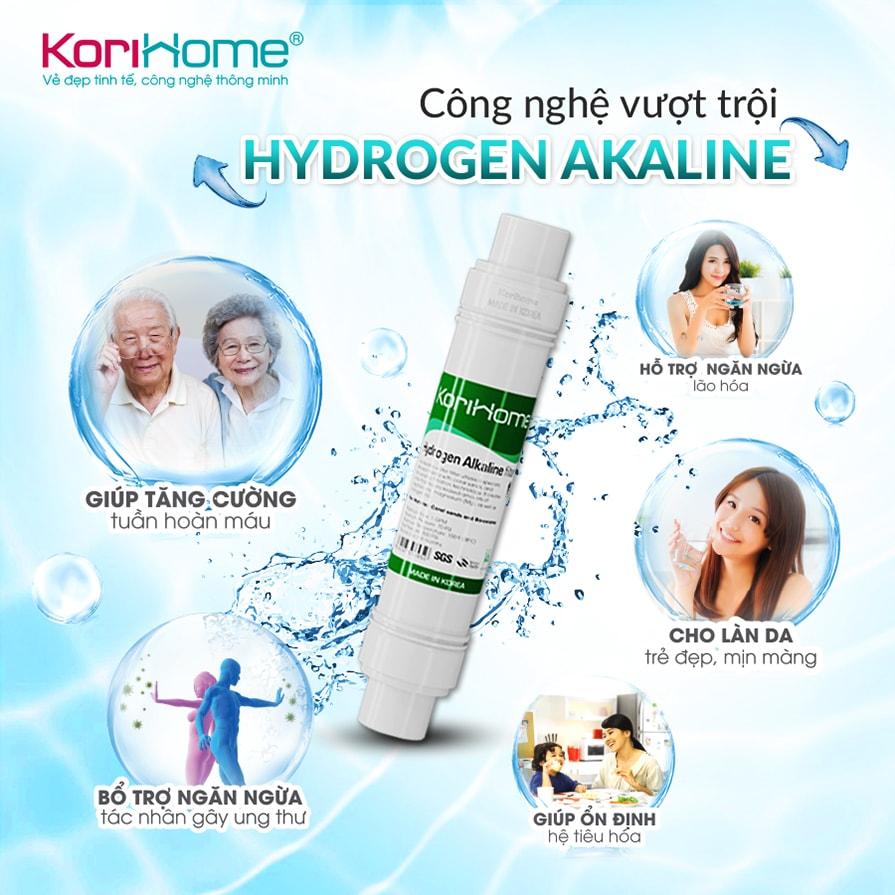 Máy lọc nước nóng lạnh Korihome WPK-913 tích hợp công nghệ Hydrogen Alkaline