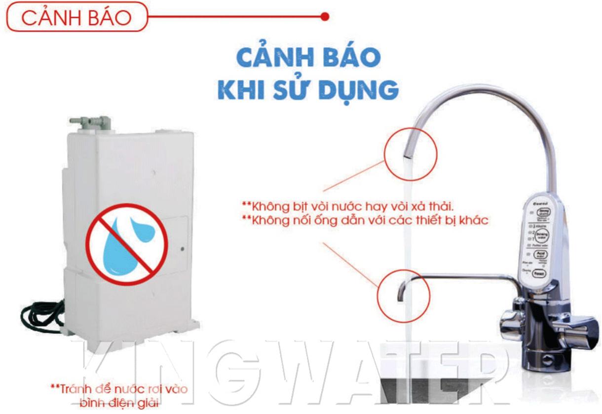 Cảnh báo khi sử dụng máy lọc ion kiềm EU301