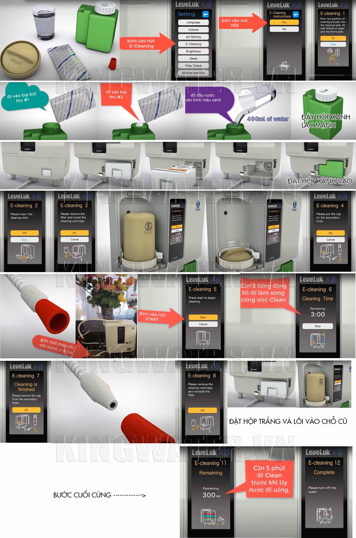 Hướng dẫn vệ sinh bộ điện cực của máy lọc nước Kangen K8