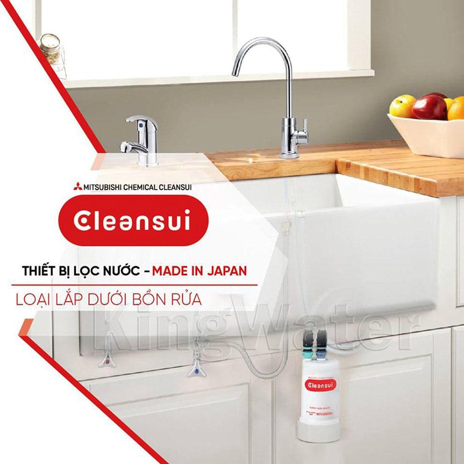 Mitshubishi Cleansui EU101 là thương hiệu máy lọc nước dưới chậu rửa số 1 tại Nhật Bản