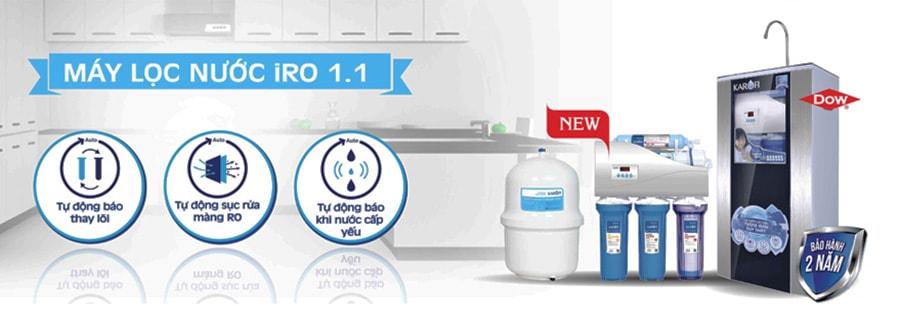 Máy lọc Karofi 1.1 thuộc ở phân khúc máy lọc nước giá rẻ