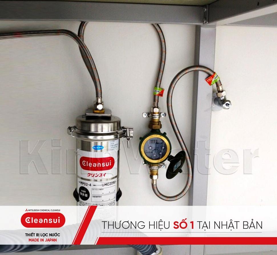 Hình ảnh thực tế máy lọc nước Mitshubishi Cleansui MP02-4