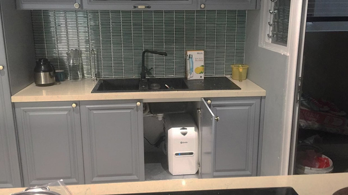 Hình ảnh thực tế máy lọc nước Aosmith E2 từ khách hàng