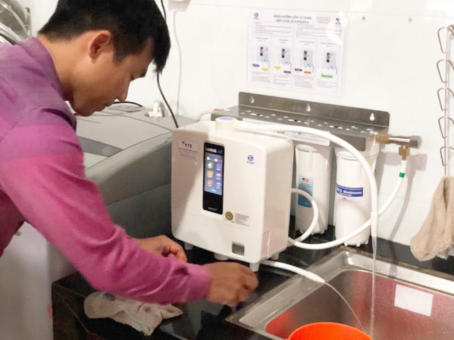 Hình ảnh thực tế máy lọc nước điện giải Kangen K8