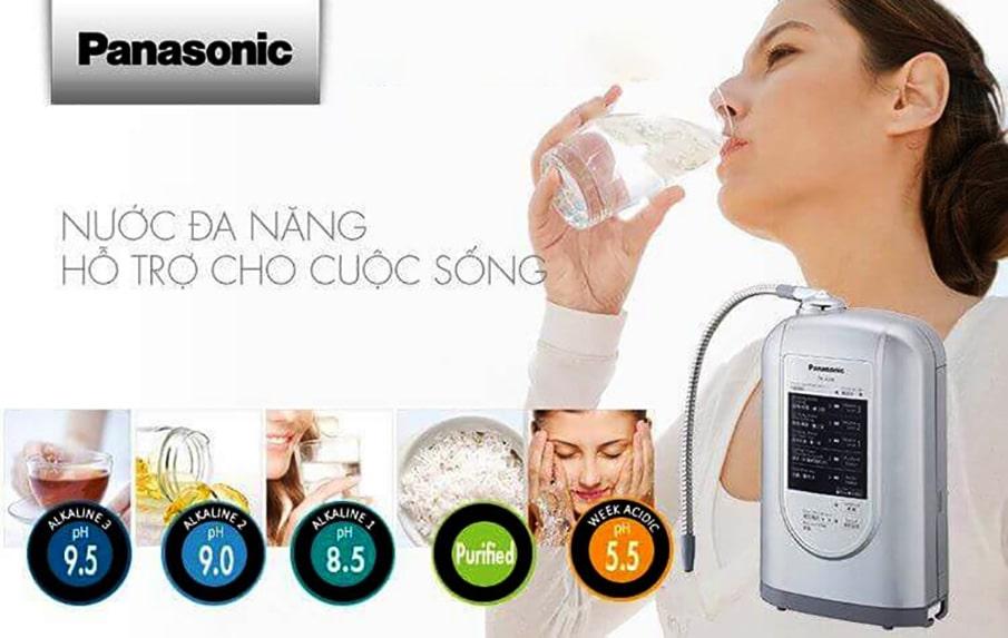 Nguồn nước ion kiềm của máy lọc nước tại vòi Panasonic TK AS45 sẽ rất có lợi cho hệ tiêu hóa của bạn