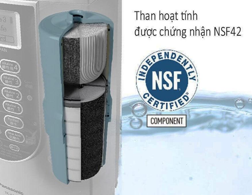 Máy lọc nước điện giải Panasonic TK AS66 có thể lọc sạch đến 17 chất độc hại trong nước