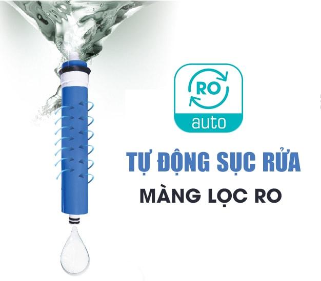 Máy lọc nước mặn Kangaroo KG3500A có tính năng tự động sục rửa màng lọc RO