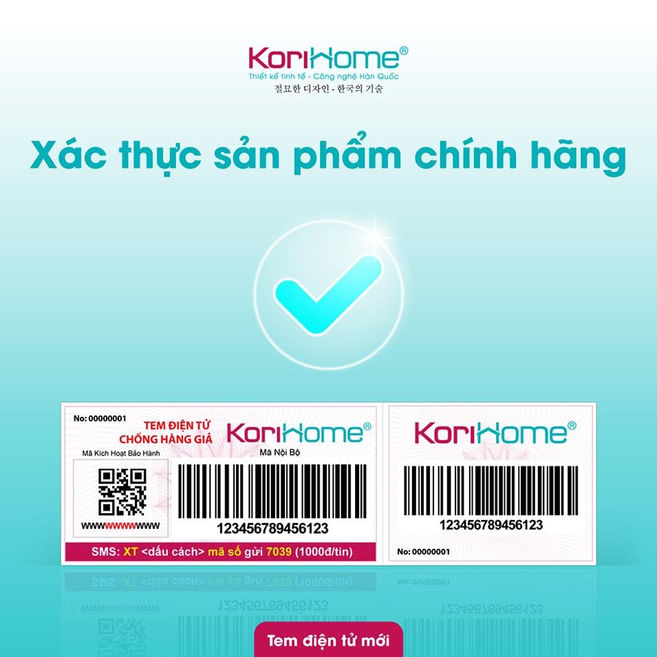 Bảo hành điện tử thông mình cho máy lọc RO Korihome WPK K91