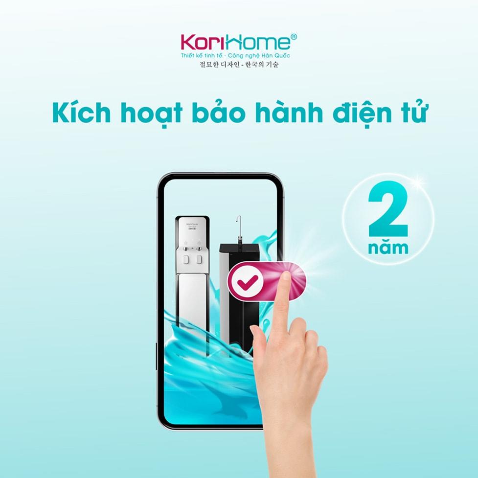 Kích hoạt bảo hành điện tử máy Korihome K-PRO WPK-G61