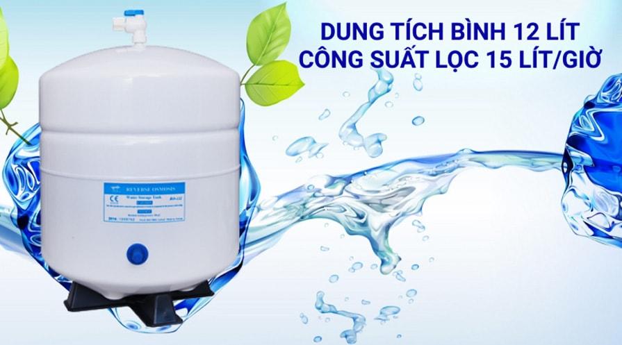 Máy lọc nước Korihome WPK G61 có dung tích bình chứa tới 12 lít nước