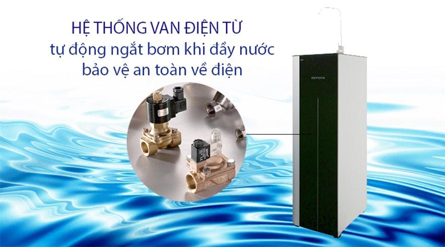 Máy lọc Korihome WPK-G61 có khả năng tự động ngắt khi nước đã được bơm đầy bình