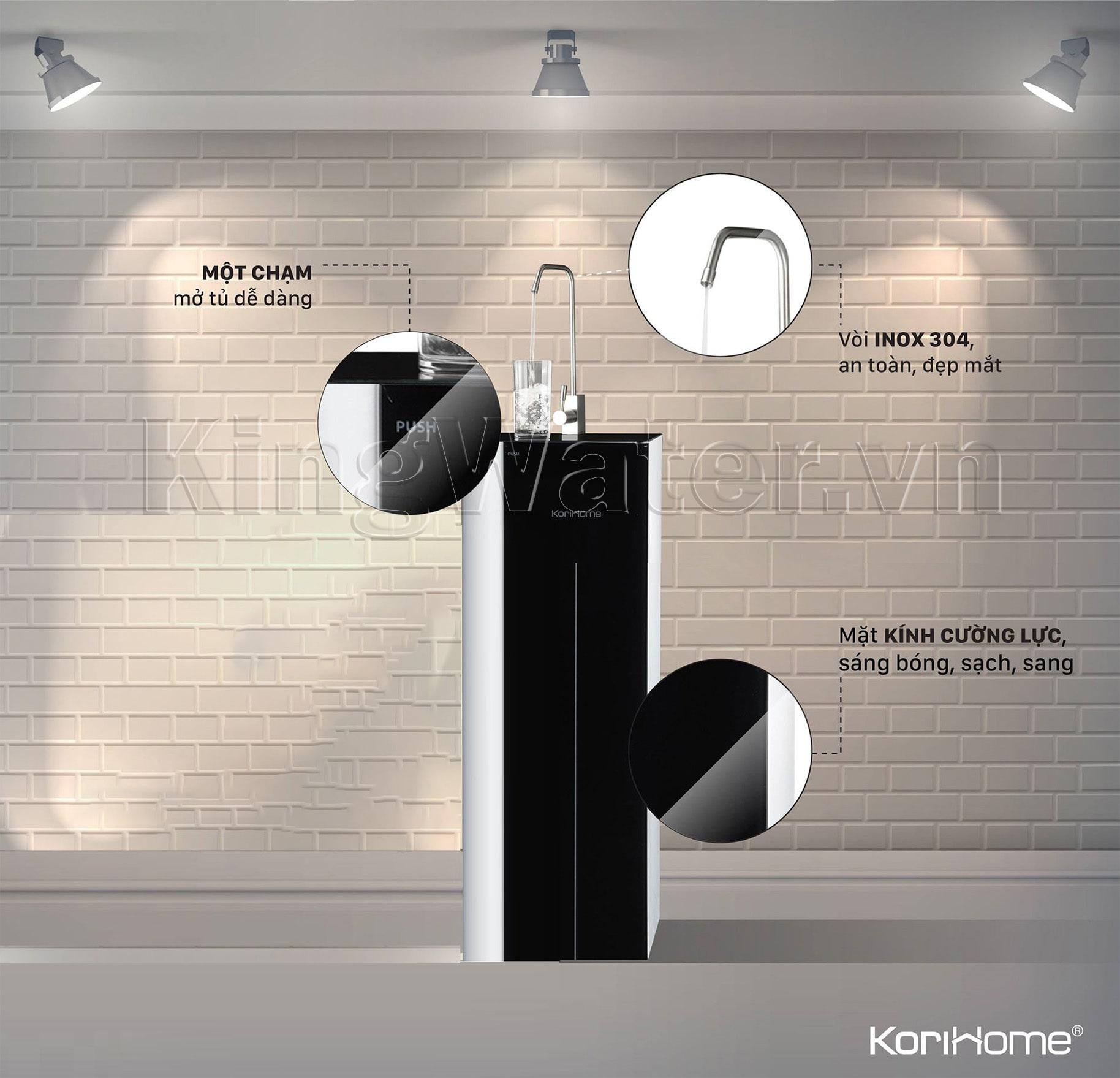 Máy Korihome K-PRO WPK-G61 gây ấn tượng bởi thiết kế từ kính cường lực cao cấp