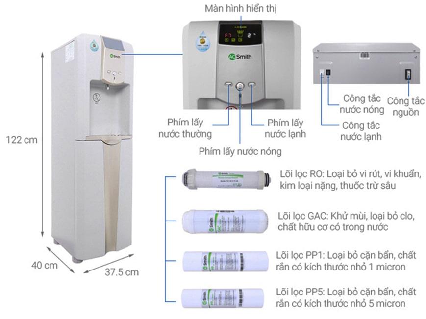 Cây lọc nước nóng lạnh Ao Smith sẽ giúp bạn đáp ứng được mọi nhu cầu