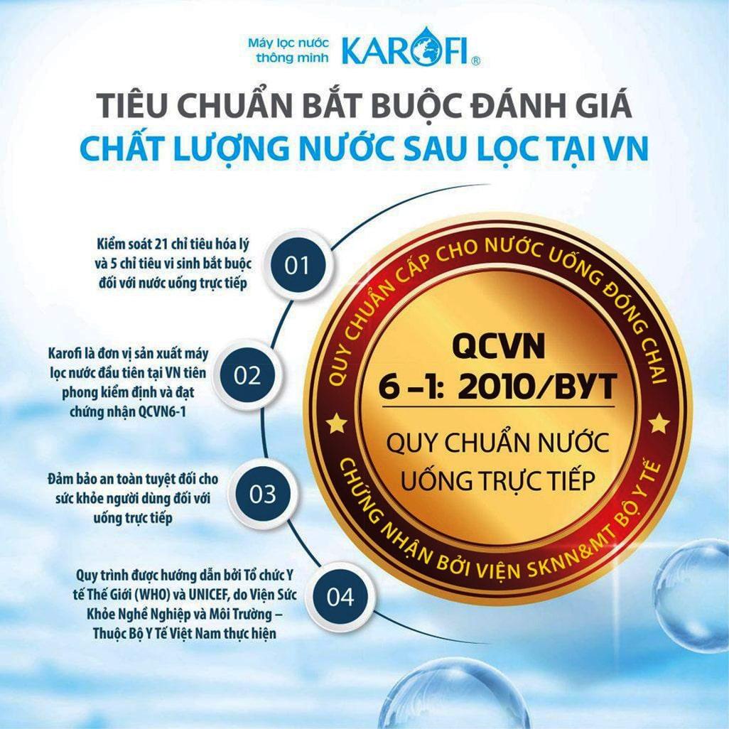 Karofi là thương hiệu top 1 về lĩnh vực máy lọc nước nóng lạnh tại thị trường Việt Nam