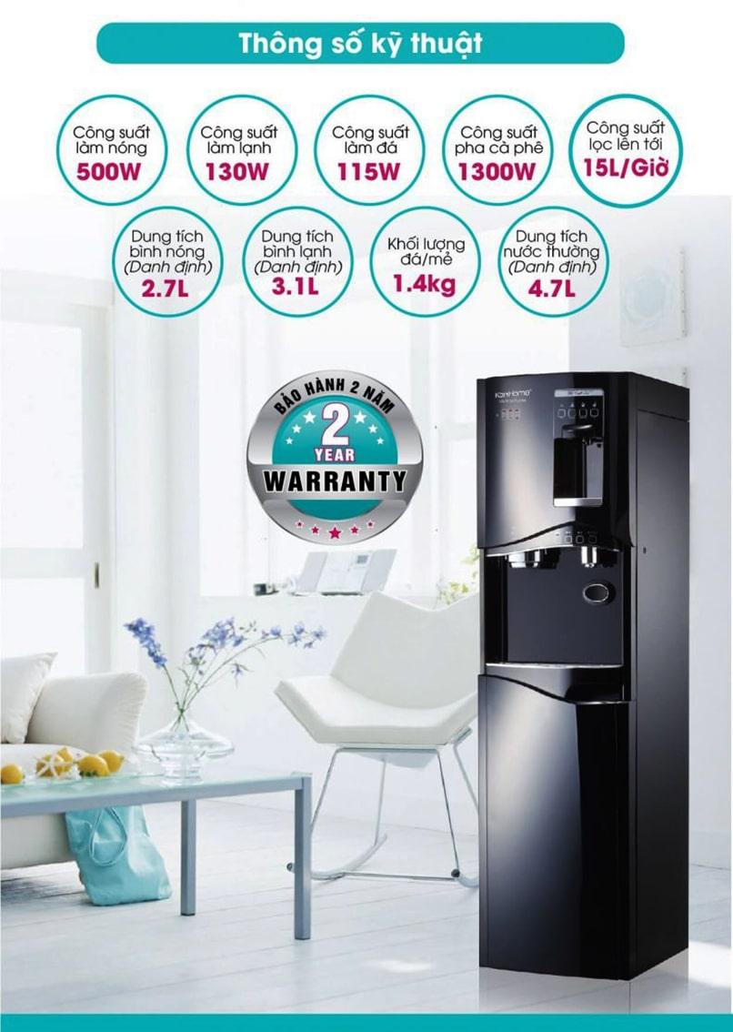 Máy lọc nước công nghệ Hàn Quốc Korihome tích hợp nóng lạnh rất dễ dàng để sử dụng