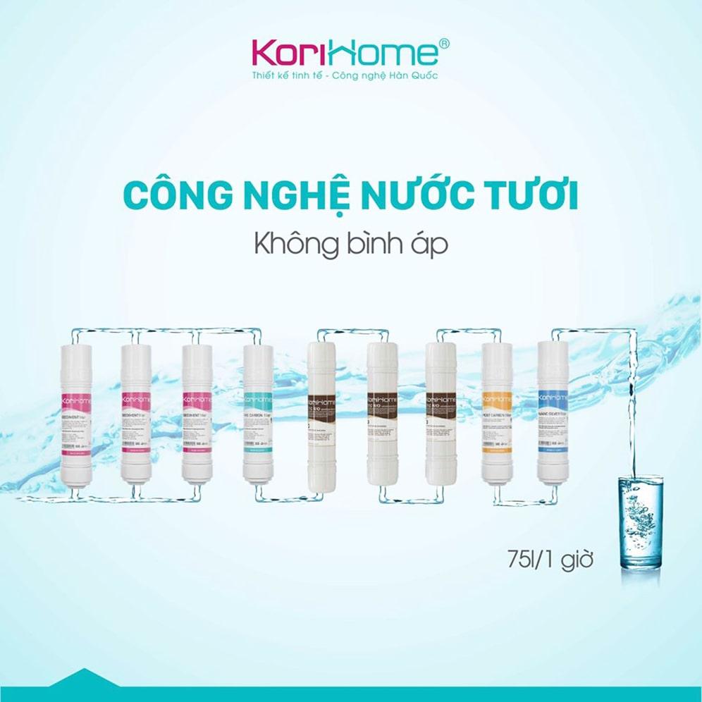 Máy lọc nước nóng lạnh của Korihome nhận được rất nhiều lời khen về chất lượng