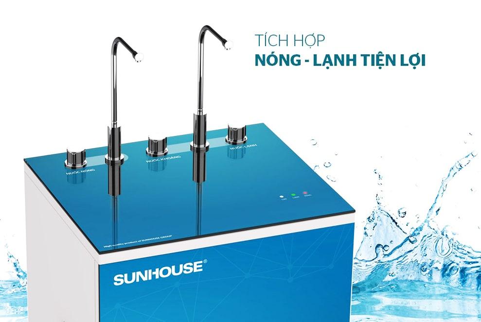 Máy lọc nước tích hợp nóng lạnh 9 lõi Sunhouse SHA76211CK