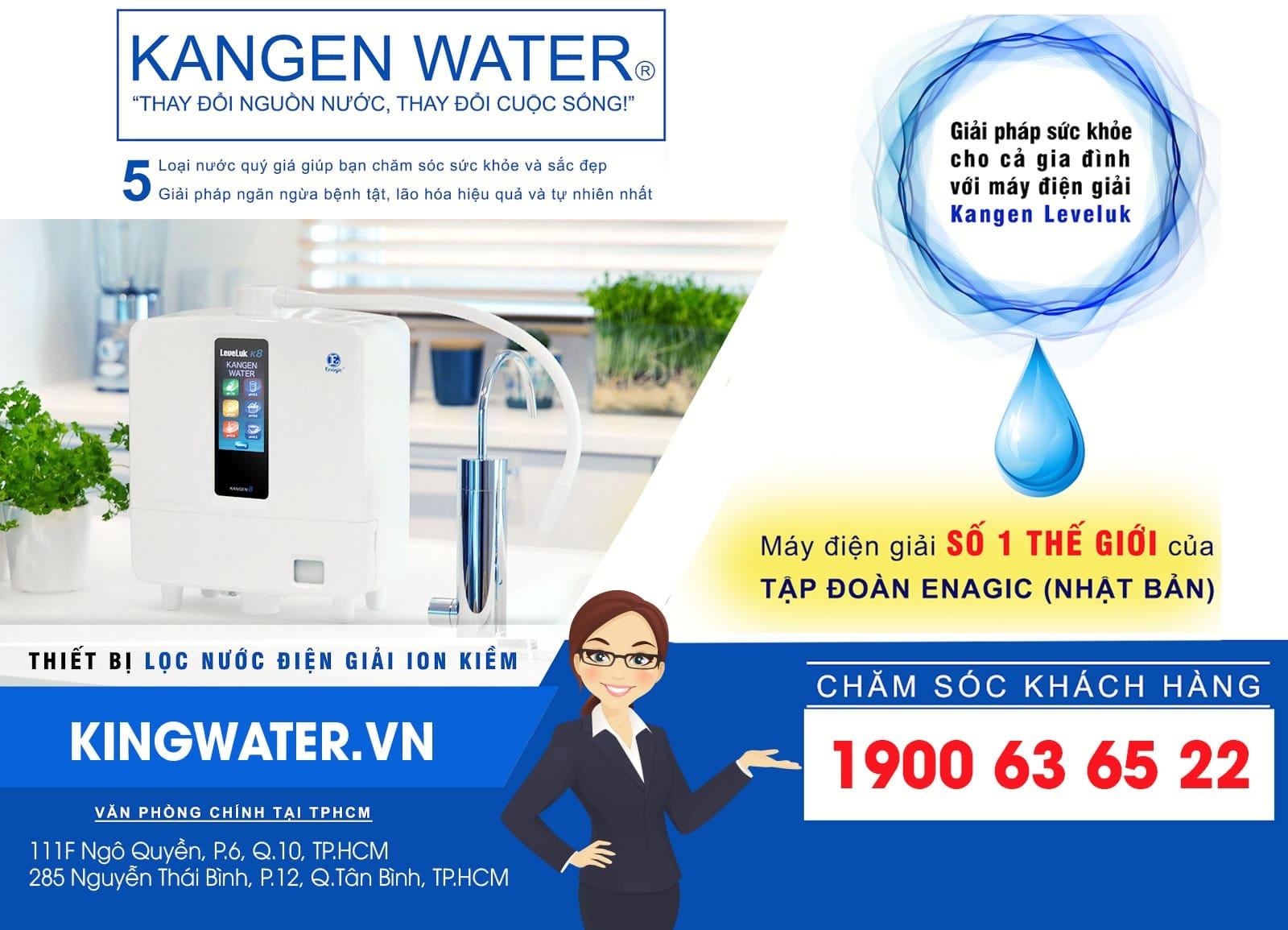Khách hàng có thể mua máy lọc nước Kangen K8 ở KingWater