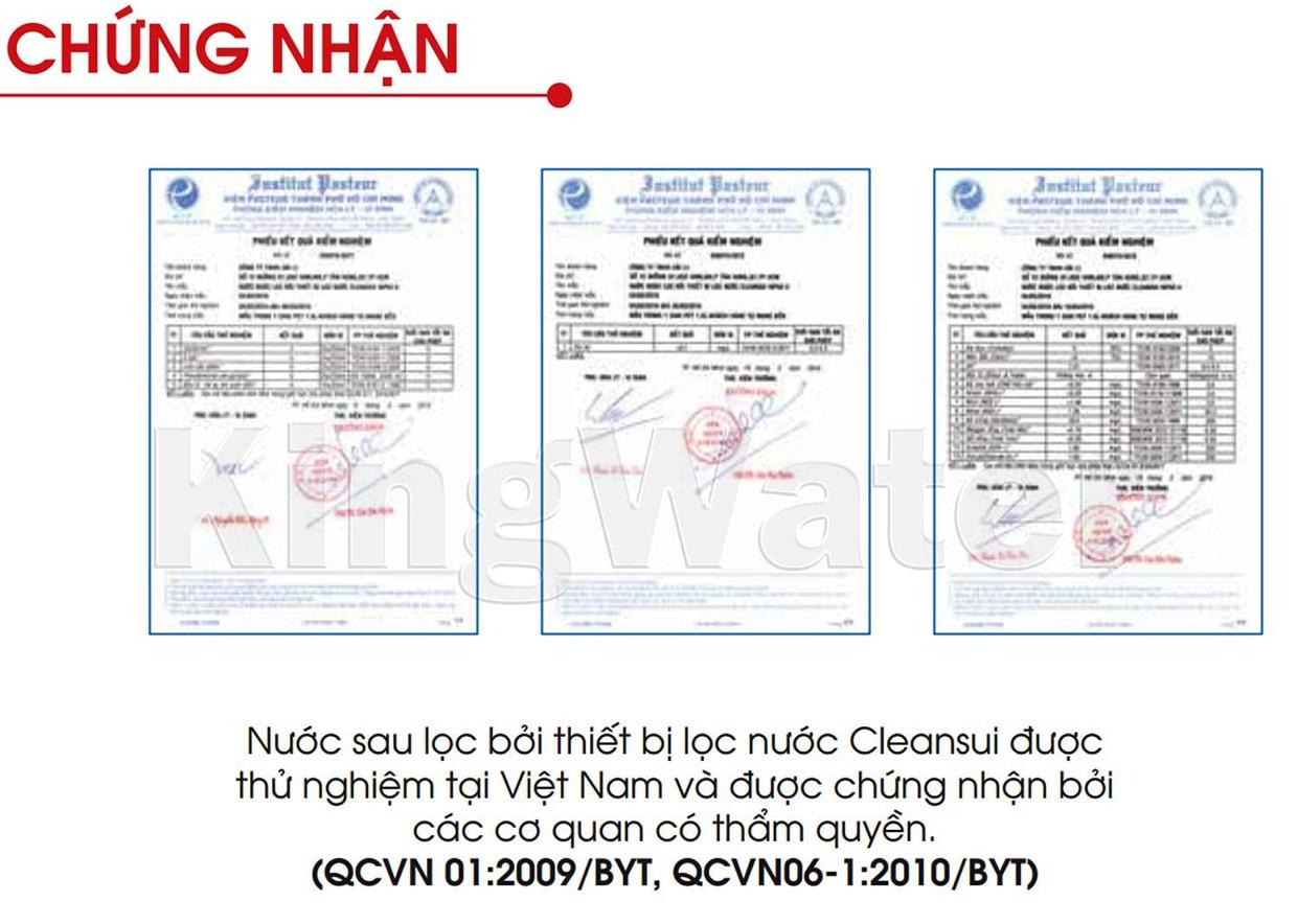 Máy Cleansui MP02-4 đạt tiêu chuẩn nước uống quốc tế