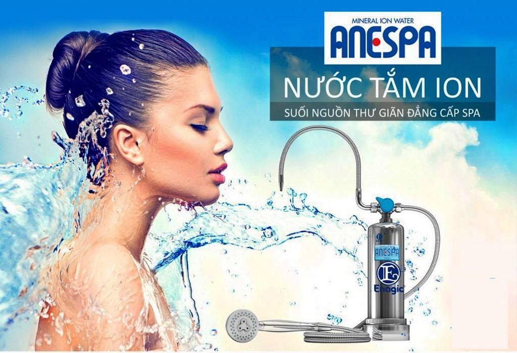 Máy lọc nước tắm Anespa DX như một hệ thống spa tại nhà