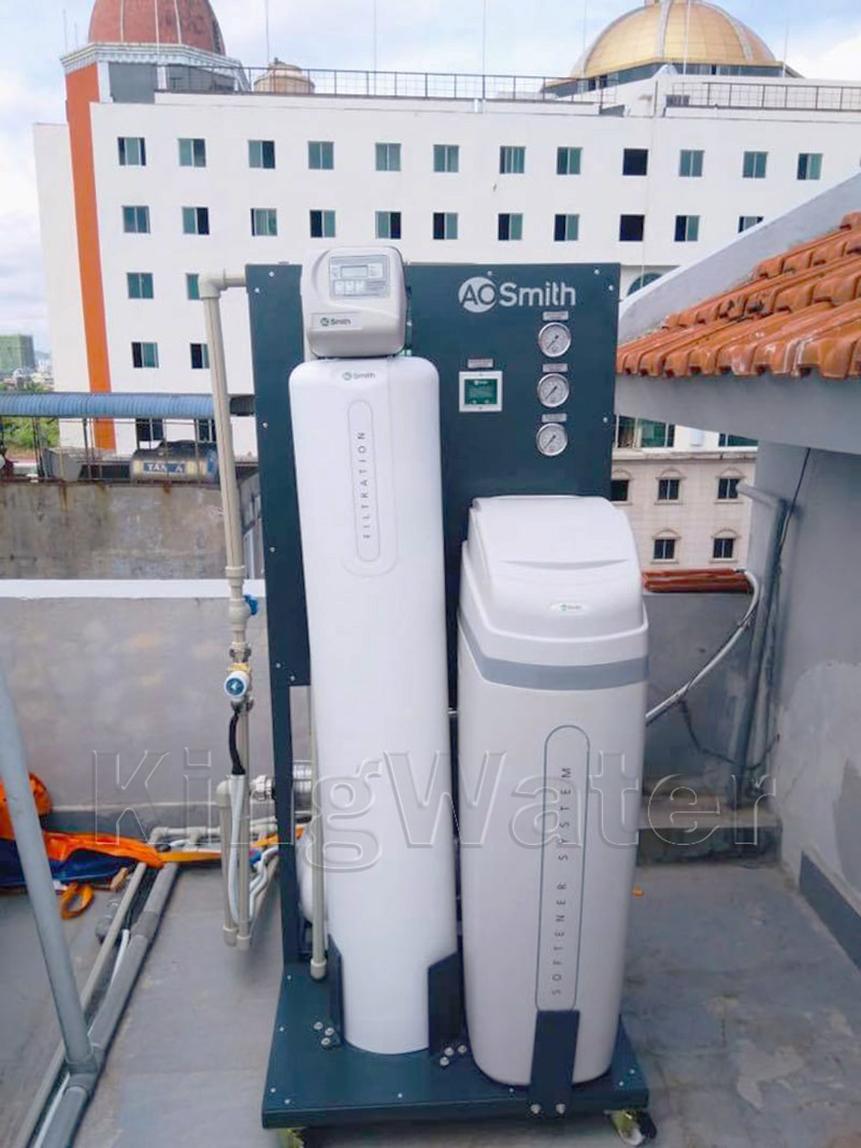 Hình ảnh thực tế lắp đặt lọc nước tổng AoSmith LS03U