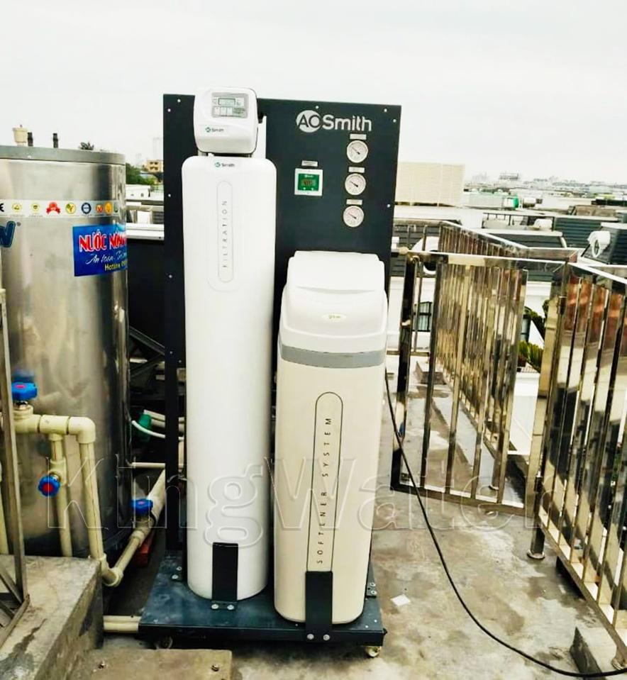 Quá trình lắp đặt hệ thống lọc nước tổng AoSmith LS03U