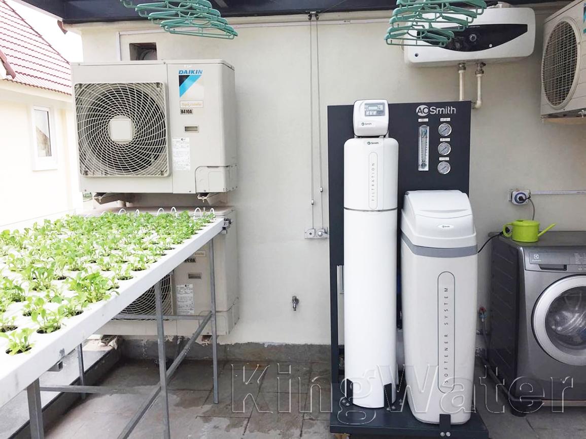 Quá trình lắp đặt máy lọc nước tổng đầu nguồn AoSmith LS03U