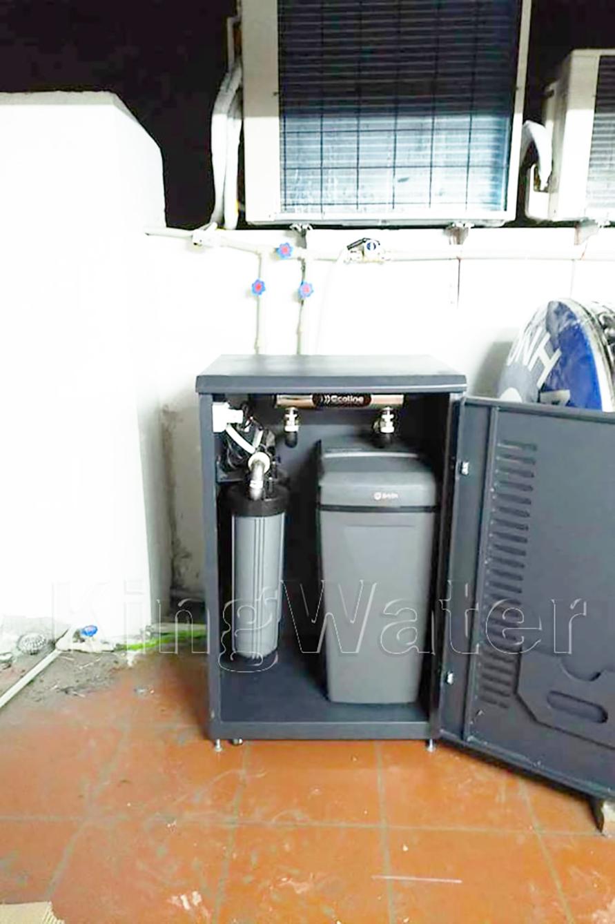 Hình ảnh lắp đặt hệ thống lọc nước tổng đầu nguồn Ao Smith i97