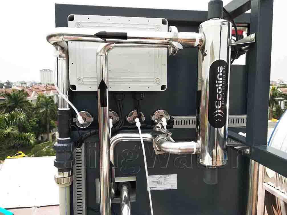 Hình ảnh lắp đặt máy lọc tổng đầu nguồn AoSmith System 103