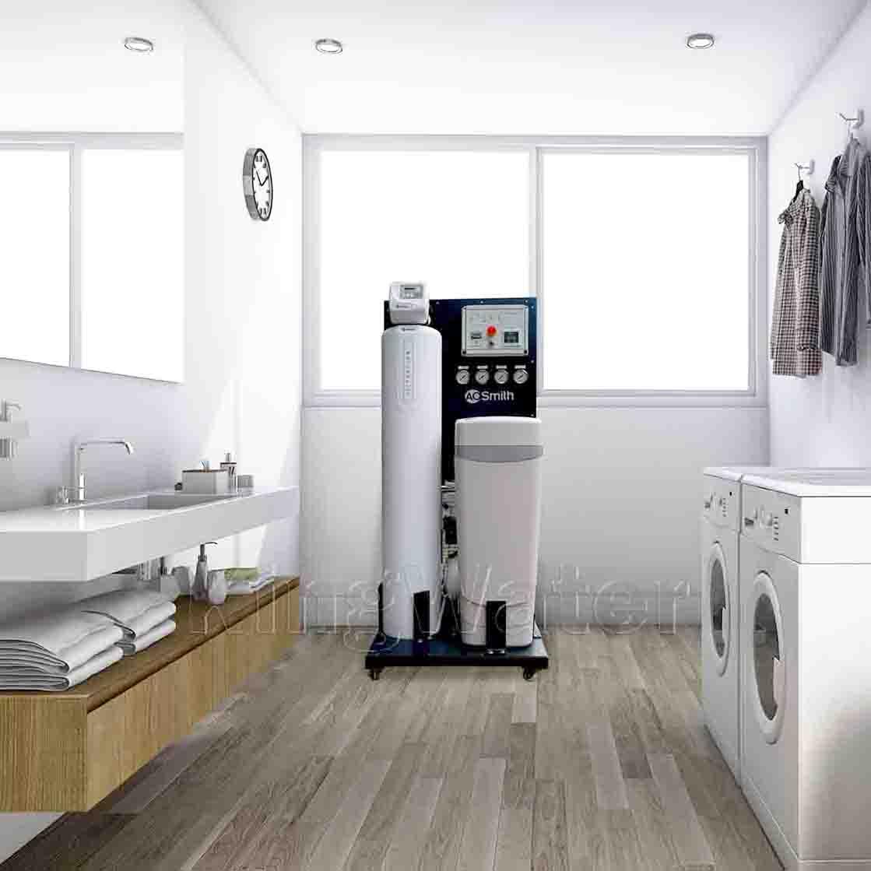 Hình ảnh lắp đặt máy lọc nước tổng đầu nguồn AoSmith System 103